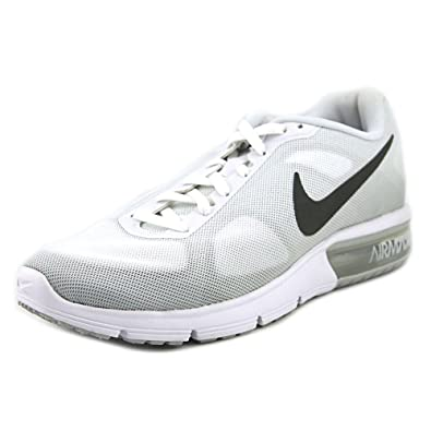 low priced 04e9d de043 Nike Air Max Sequent Men White Running Shoe 9 D(M) US