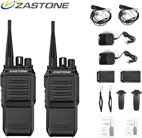 Zastone T3000 Walkie Talkies Long Range Rechargeable 6W UHF 400-520MHz 2200Mah Two Way Radio,16 Channels 2 Pack