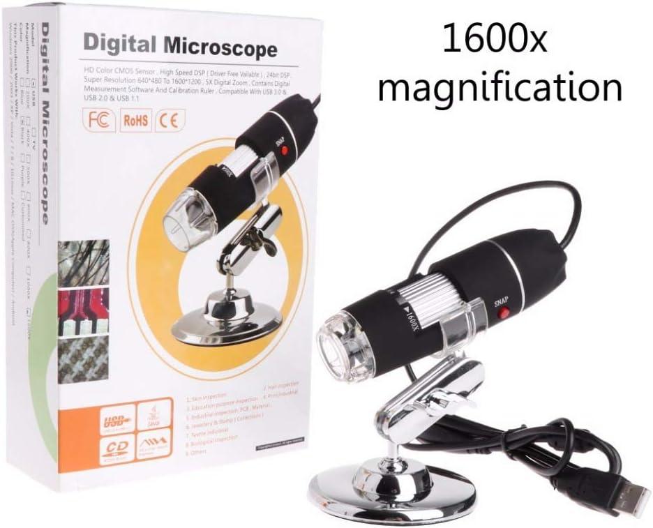 MONICO 1600X 2MP Zoom Microscope 8 LED USB Digital Handheld Magnifier Endoscope Camera