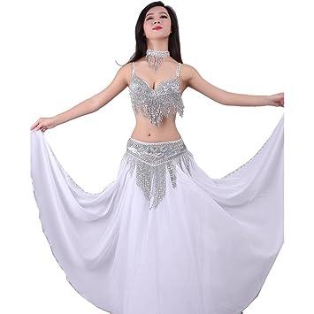 56b89302c Wgwioo Dance costumes Mujeres Danza del Vientre Sujetador Falda ...