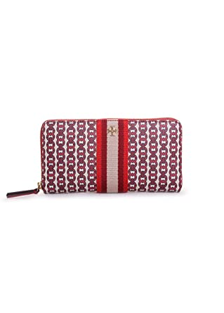 b87c93a95 Image Unavailable. Image not available for. Color: Tory Burch Gemini Link  Canvas Wallet in Liberty Red