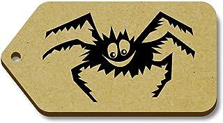 10 x 'Araña de Halloween' 66mm x 34mm Regalo/Equipaje Etiquetas (TG00000239)