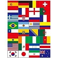 Holibanna 5 Hojas de Pegatinas de Banderas de Países Etiquetas de Banderas de Países Pegatinas Faciales Impermeables…