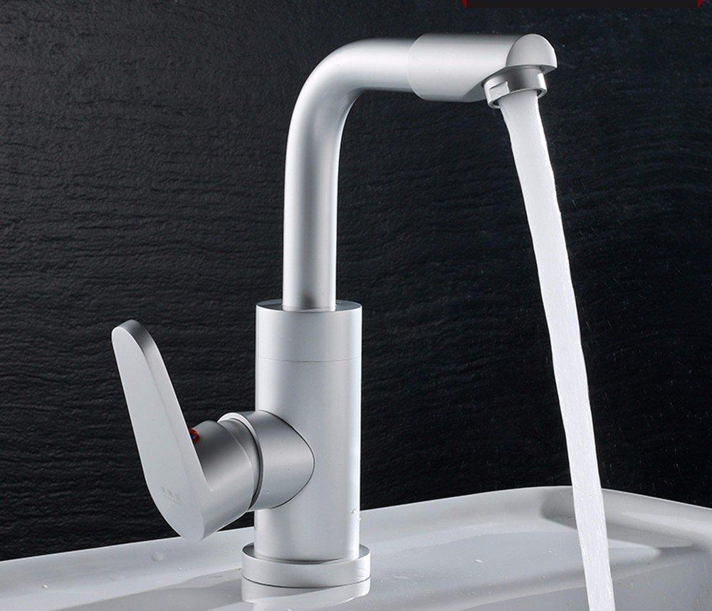 AWXJX Aluminum basin hot and cold Single Single Hole water faucet