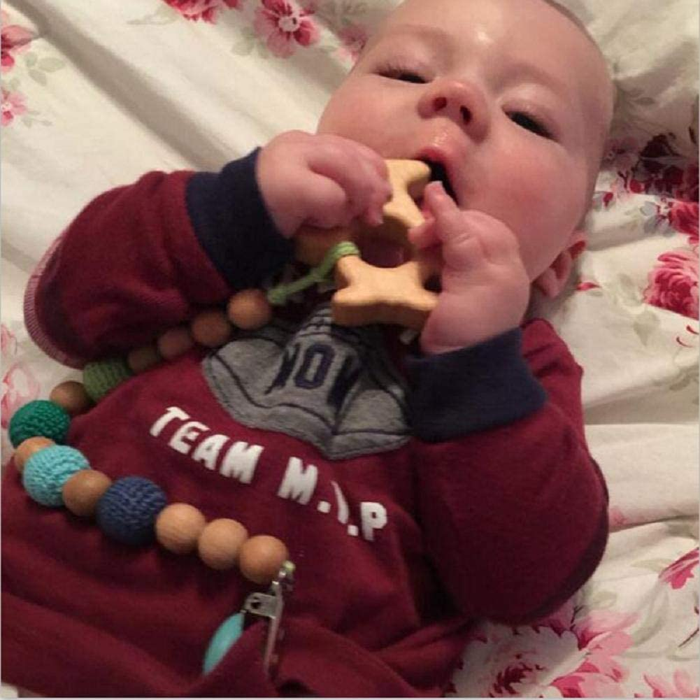 Personalized Nipples//Dummy//Chupeta Pacifier Clips Creative and Useful Ogquaton Hand Made Baby Natural Wooden Animal Pendant Pacifier Chains