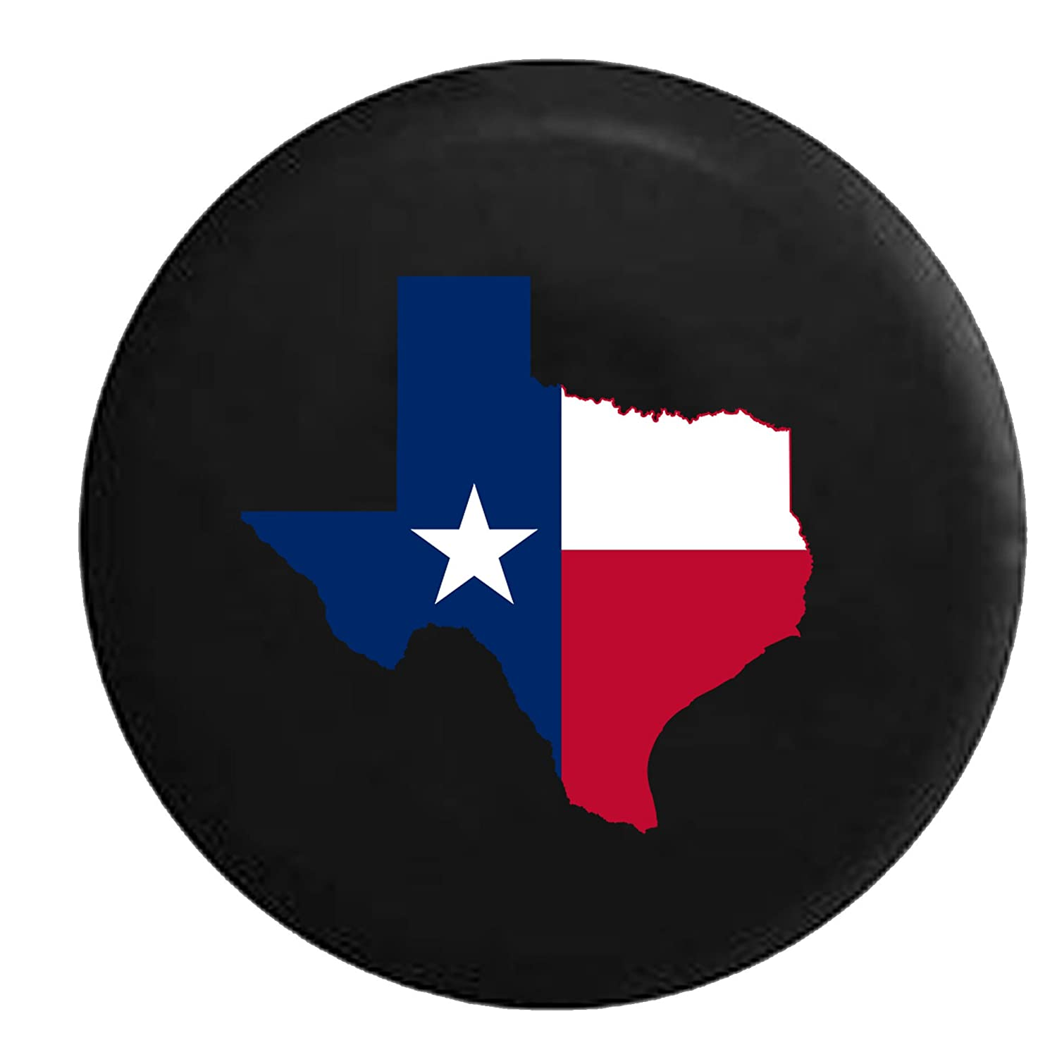 Country Living Spare Jeep Wrangler Camper SUV Tire Cover 29 in Texas State Flag Red White /& Blue