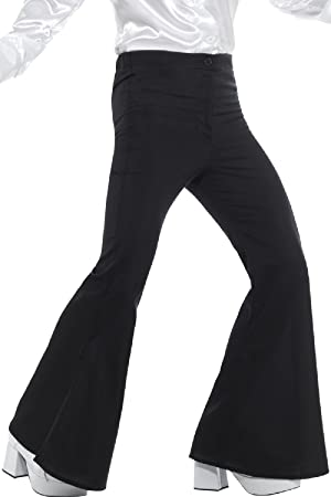 Ladies 1960s 1970s Flared Trousers Adults Disco Hippy Flares Fancy Dress Costume