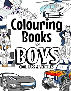 Colouring Books For Boys Cool Cars And Vehicles Trucks Bikes
