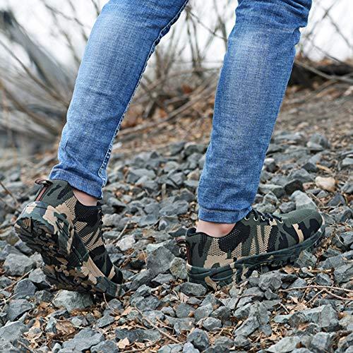 Protezione Lacci Verde Piattaform Donna Acciaio Stivali Antinfortunistiche 38 Blu Nero 46 Uomo Trekking Scarpe Di Punta Escursionismo Sneakers Shoes In Camuffare Lavoro 6HfPqn7