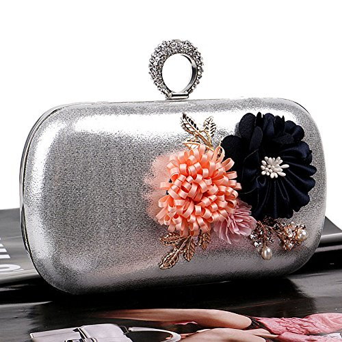 Women's Handmade Ladies Bag Europe Bag Color Simple America Clutch Flower 1 And Evening QEQE 3 dzqfEwd