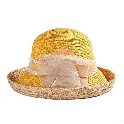 Moda Linda Flor Sombreros del Sol Chica Hechos a Mano de Paja de ala Ancha  Sombreros 8a0db3f88ea