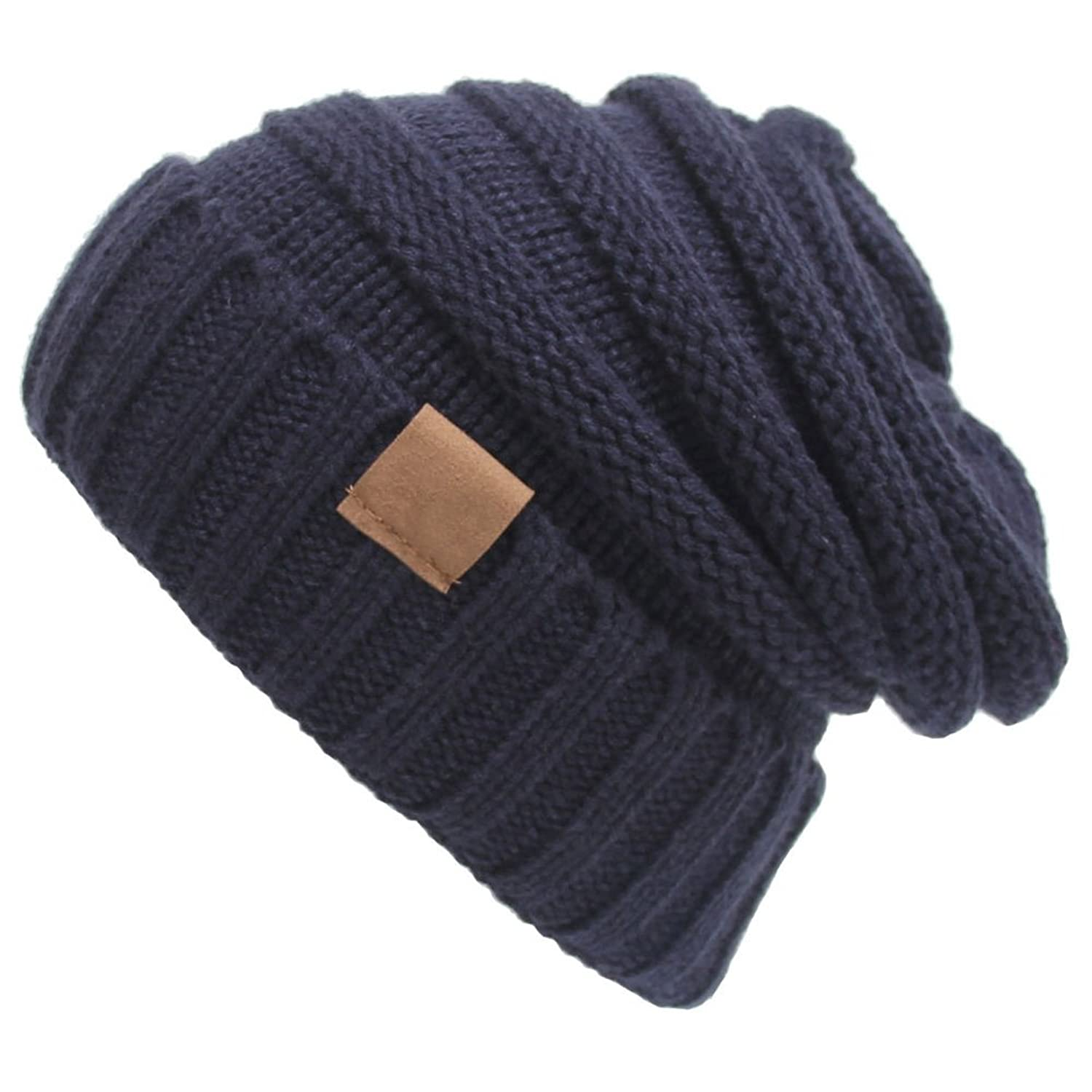 Funbase Womens Knit Slouchy Beanie Oversized Thick Cap Unisex Hat