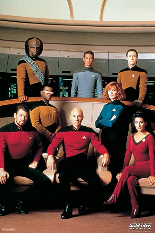 Pyramid America Star Trek The Next Generation Cast TV Show Cool Wall Decor Art Print Poster 12x18