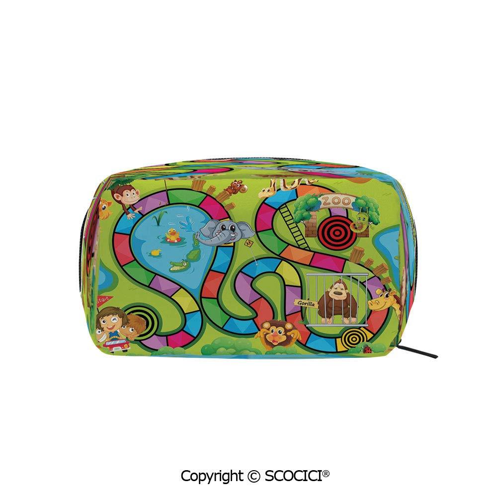 Amazon.com : Printed Portable rectangle Makeup Cosmetic Bag ...