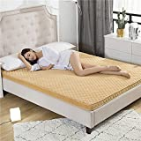 HYXL 3d bamboo charcoal breathable thick anti-slip floor mattress pad bed topper trampoline tatami mat sleeping nap cushion dormitory-M 90x190cm(35x75inch)