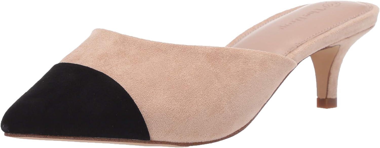 The Drop Zapatos Destalonados con Puntera En Punta de Dos Tonos Mule Mujer