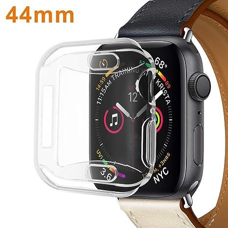 SPGuard Funda Protectora de Silicona Compatible con Apple Watch Series 4 con TPU Protección Completa Protector