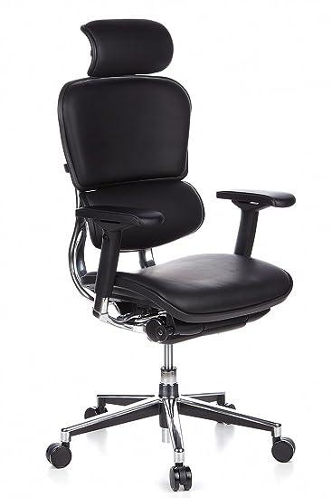 Schreibtischstühle Ergonomisch hjh office 652200 luxus chefsessel ergohuman echt leder schwarz