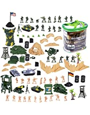 deAO Military Action Figures Playset Army Force Defence Unit Soldiers, Vehicles and Accessories