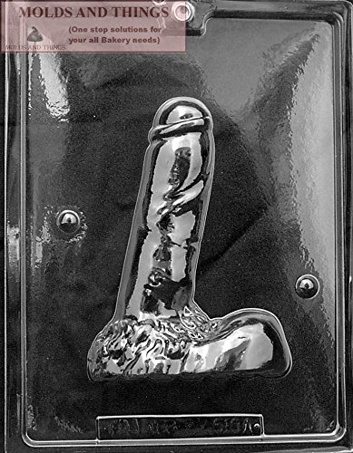 LARGE MAN'S 3D Adult Chocolate Candy Mold with Copyrighted Molding Instructions -Part A