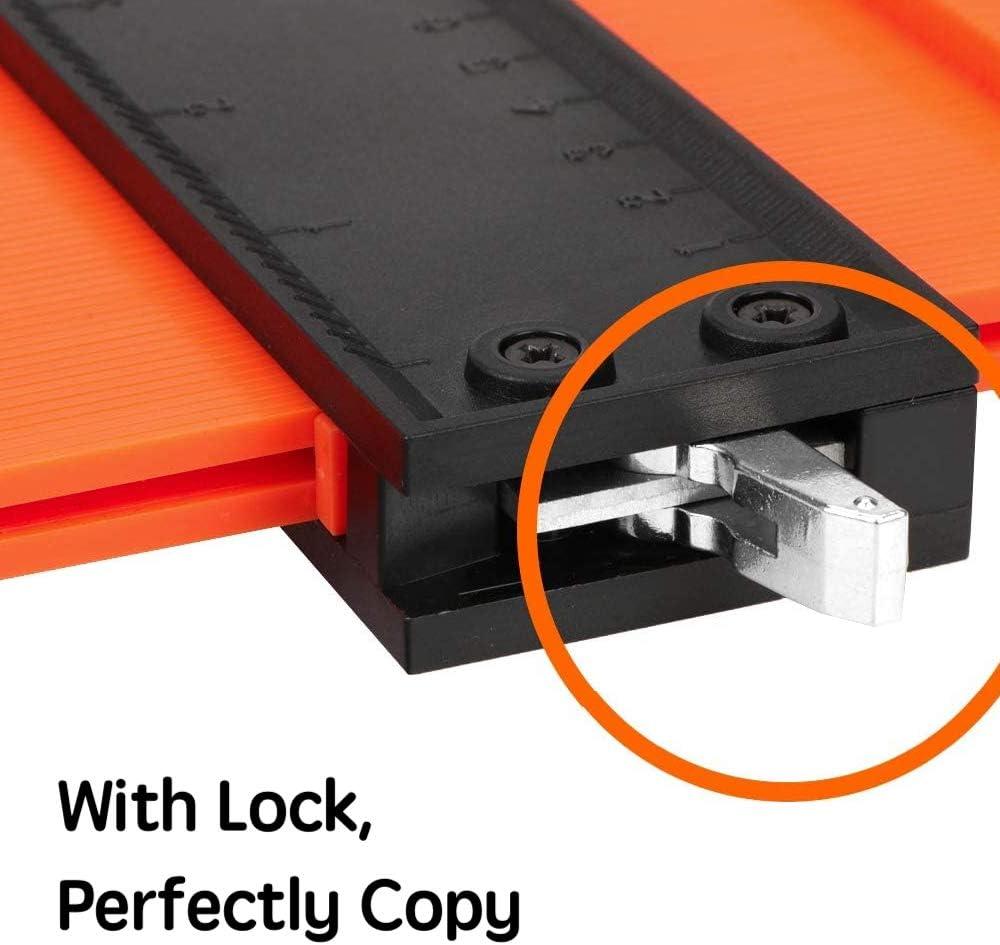 Irregular Welding Woodworking Tracing Tool 10-inch Contour Gauge Duplication Adjustable Copy Irregular Shape Duplicator with Lock