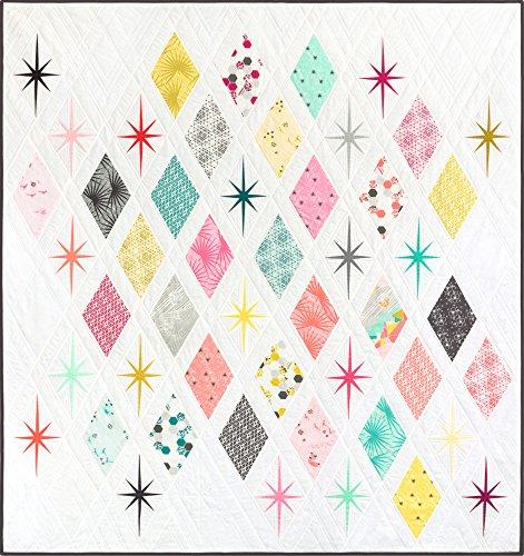Violet Craft Palm Canyon Atomic Starburst Quilt Kit Robert Kaufman Fabrics KITP-1812-5 (Violet Starburst)