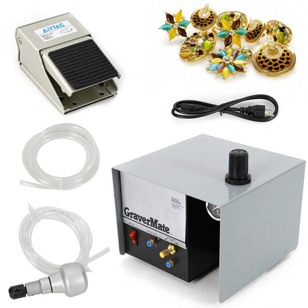 110V 80W Jewelry Engraver Single Ended Impact Pneumatic Engraving Machine