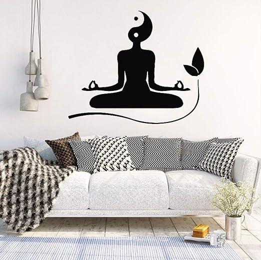 Yoga vinilo etiqueta de la pared para sala de Yogo niña ...