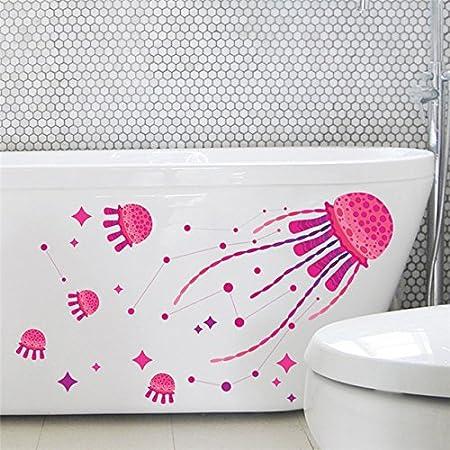 Pegatina baño medusas para bañeras mamparas baño, cuartos infantiles de OPEN BUY: Amazon.es: Hogar