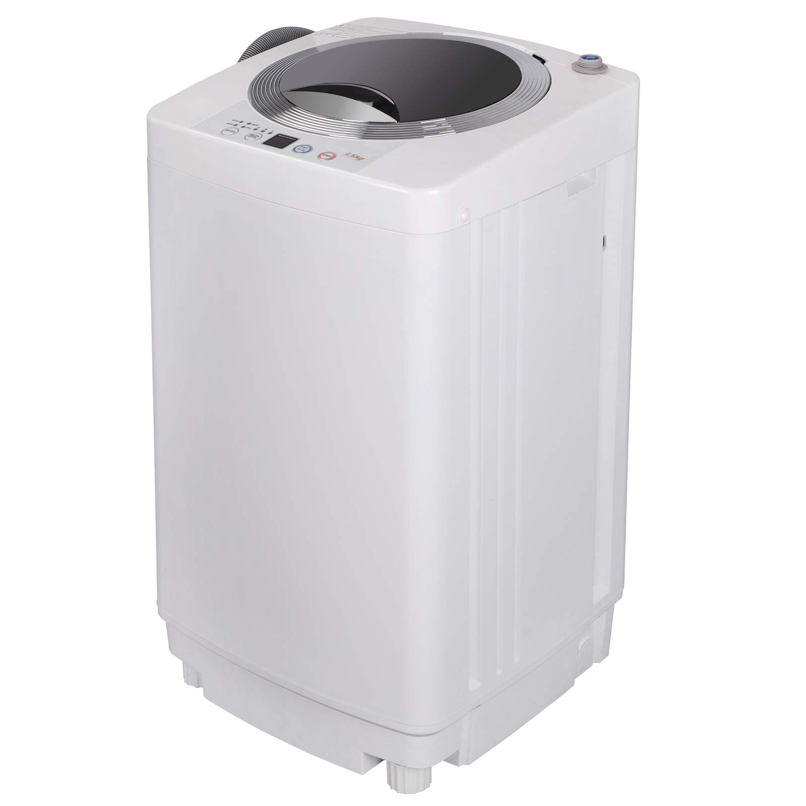 ZENY Portable Compact Full-Automatic Washing Machine 1.6 Cu.ft Laundry Washer Spin with Drain Pump and 6.56FT Drain Pipe,Compact and Perfect for Small spaces