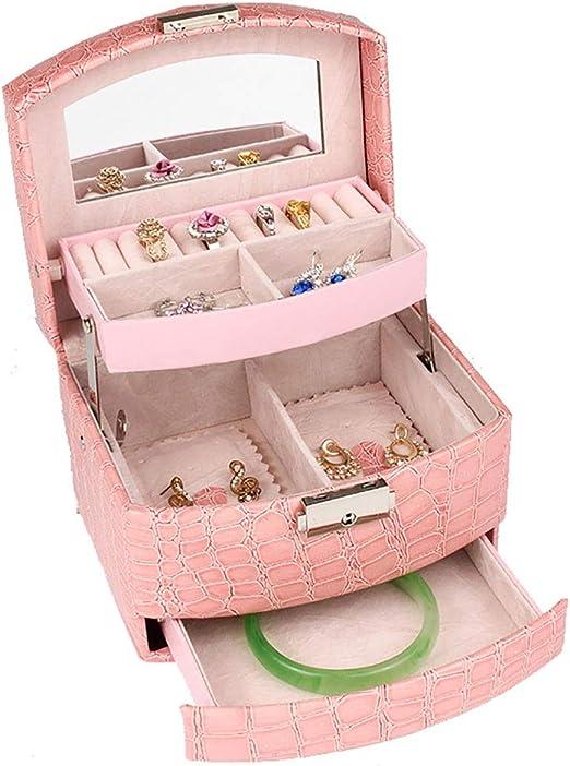 Zago Caja de Almacenamiento de Joyas Estuche de Viaje para niñas ...