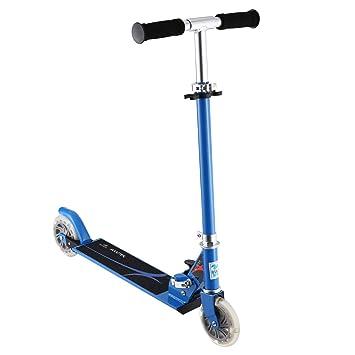 Scooter para niños, Patinete OUTAD Patinete scooter plegable con altura ajustable y Deluxe PU Ruedas Brillantes perfecto para Niños, Azul