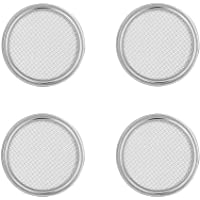 G.a HOMEFAVOR Stainless Steel Sprouting Jar Lids Fit for Wide Mouth Mason Jars for Making Organic Sprout Seeds Indoor, Set of 4