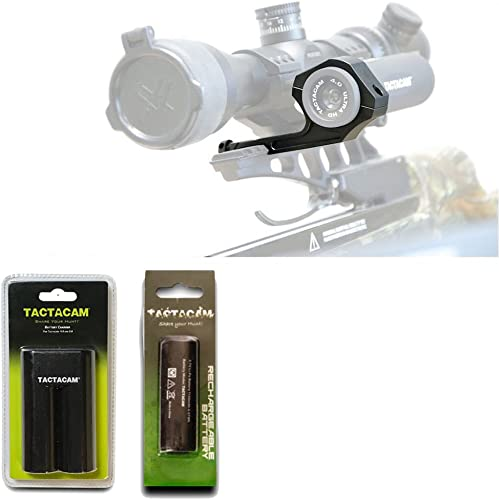 TACTACAM Under Scope Crossbow Mount 5.0 4.0 Solo Charger for Battery 4 Rechargeable Battery 3.0 4.0 – Deluxe Bundle