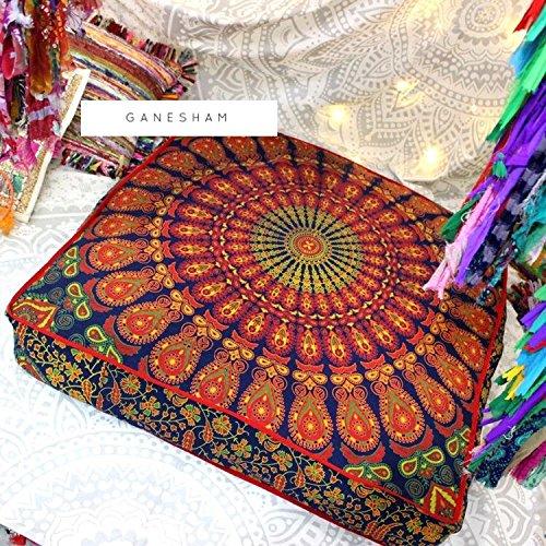 Ganesham Handicraft - Huge mandala tapestry Dog or Cat bed, mandala cushion cover, boho floor pillow, bohemian floor cushion, boho seating, boho decor, boho dog -