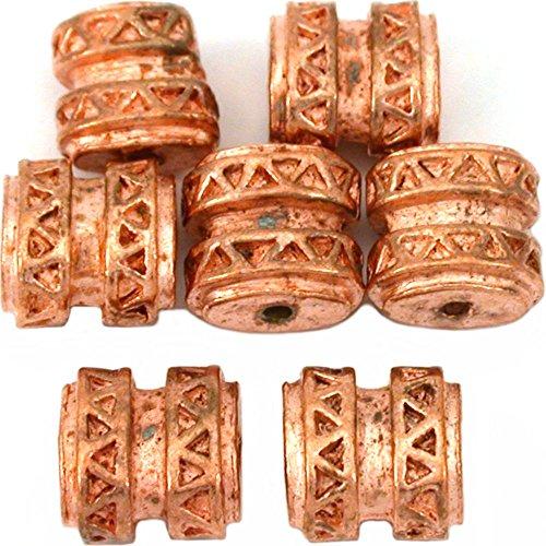 Bali Oval Barrel Beads - 7