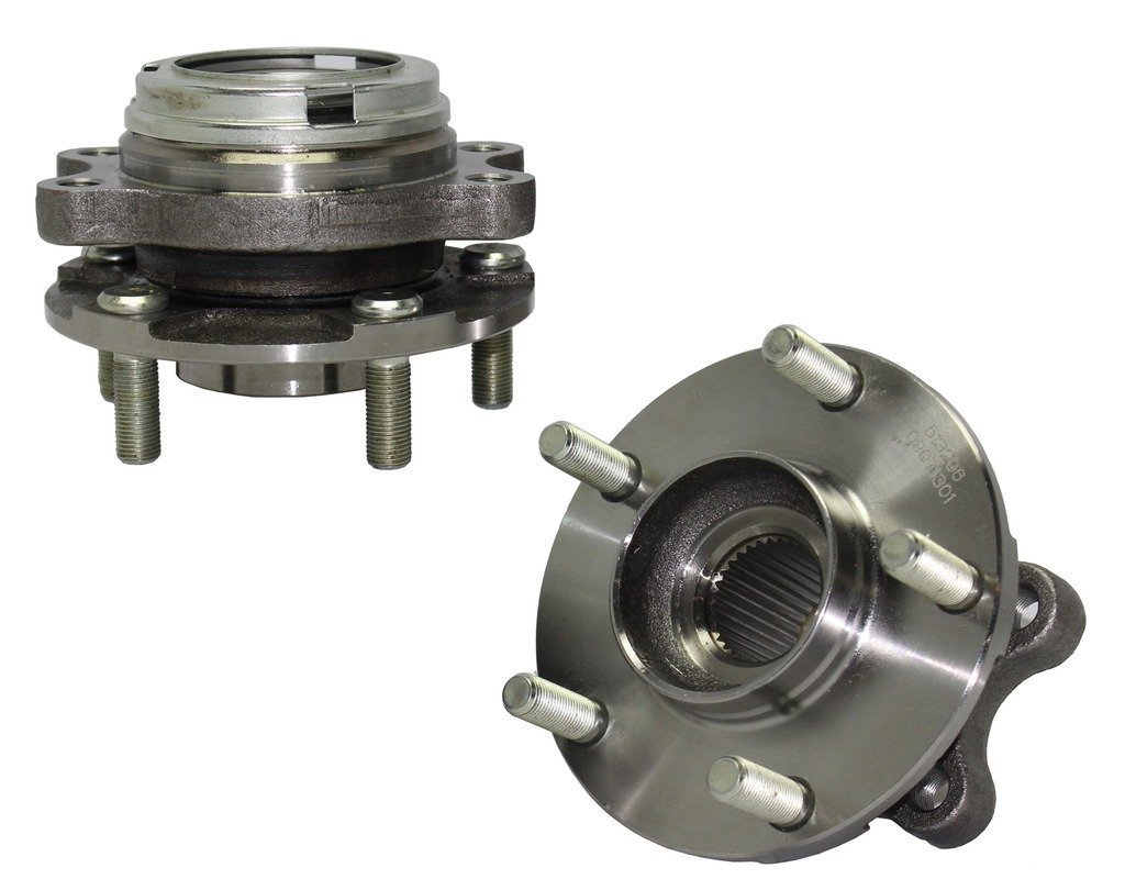 Detroit Axle Brand New Both (2) New Front Driver & Passenger Side Complete Wheel Hub & Bearing Assembly - Nissan Altima & Maxima 3.5L With-ABS