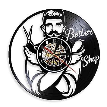 Barber Shop Hairdresser/'s Vinyl Record Wall Clock Hair Salon Modern Art Gift