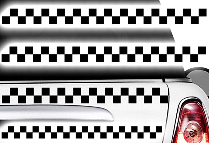Hr Werbedesign Aufkleber Karomuster Race Turbo Flag Seitenaufkleber Karo Sticker Taxi Dekor Xxn Auto