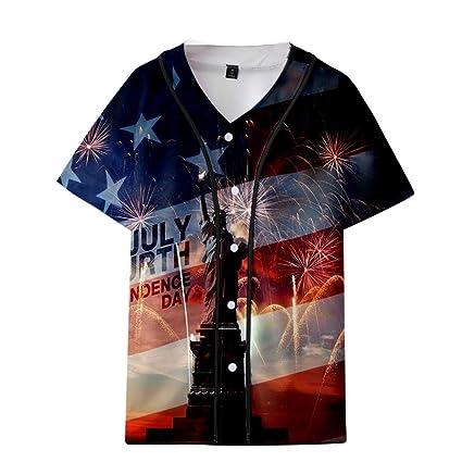 9a721af52 Amazon.com: Homlifer 2019 Mens T-Shirts Summer USA Independence Day ...