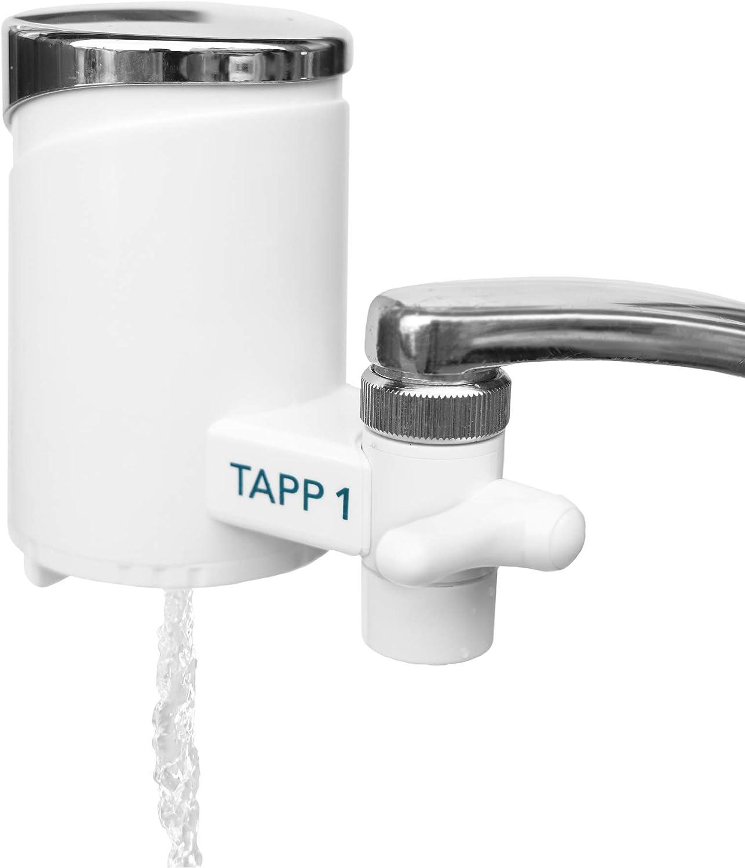 TAPP Water TAPP 1 - Sistema de Filtración para grifo - Filtra cloro, sedimentos, oxido, nitratos, pesticidos y elimina mal sabor y olor. Filtro de agua para grifo