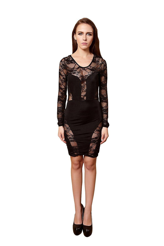 YiYiFS® Frauen Kurznachtwäsche Nachtclub über Knie Ärmelloses Kleid ED106