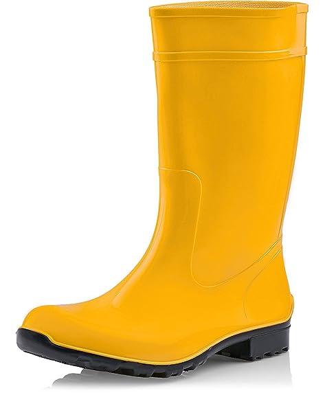 BOCKSTIEGEL - Sara - Mujer Botas de agua - Azul - mujer, amarillo, 40 EU
