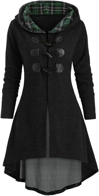 Womens Fashion Button Zipper Coat Tunic Plus Size Irregular Hem Coat