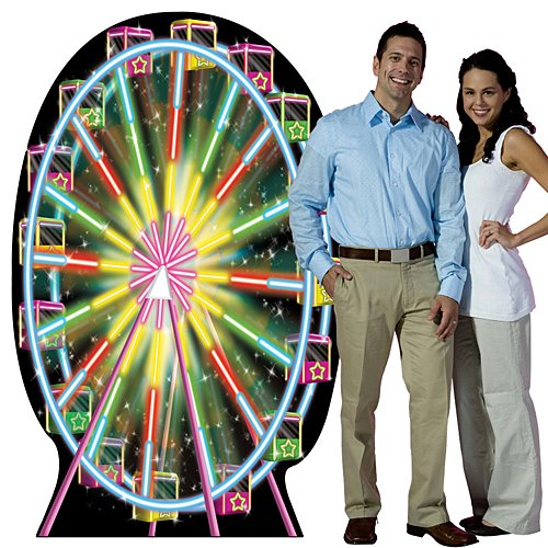 Carnival Circus Ferris Wheel Party Decoration Standup Photo Booth Prop Background Backdrop Party Decoration Decor Scene Setter Cardboard Cutout (Decoration Wheel Ferris)