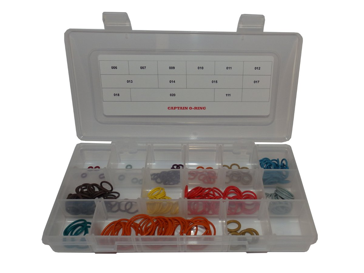 Captain O-Ring LLC MacDev Clone 5 - Color Coded 5X Box Oring Rebuild Kit by Captain O-Ring LLC