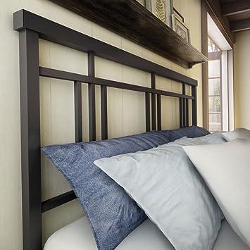 Amisco Cottage Metal Headboard Only, Queen Size 60u0026quot;, Cobrizo/Textured  Dark Brown
