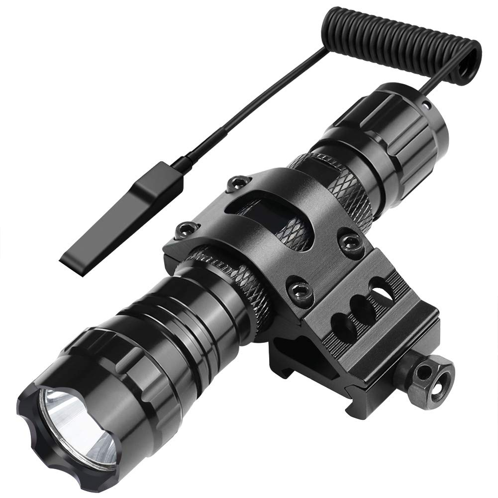 Marmot Tactical Flashlight 1200 Lumens LED Light,Picatinny Rail Mount & Rechargeable Batteries & Remote Switch Included by Marmot