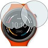 2x Golebo Crystal protection d'écran pour Motorola Moto 360 Sport Smartwatch - (Clair comme du cristal, Montage sans bulles, A retirer simplement) (intentionnellement plus petit comme l'écran, parce qu'il est arqué)
