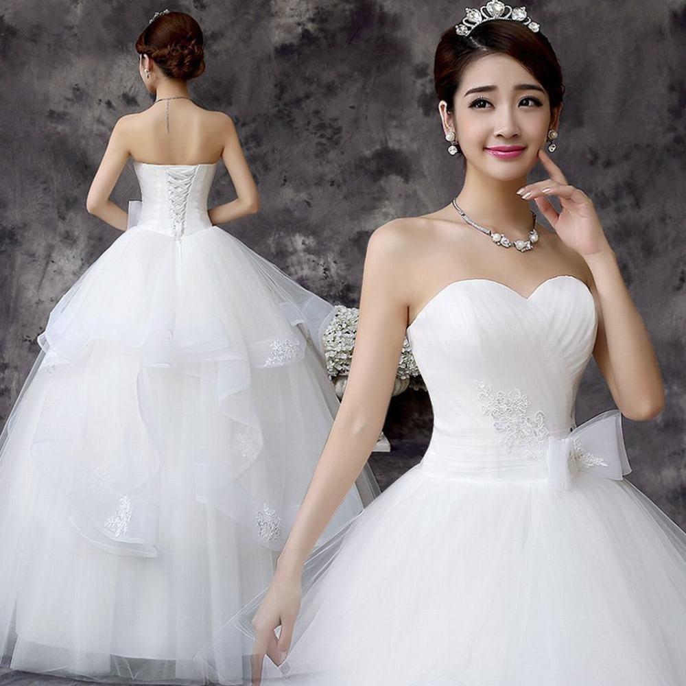 MOMO Vestido de Boda de la Novia del Sujetador de la Boda Vestido de Boda de la Princesa Coreana Simple: Amazon.es: Deportes y aire libre